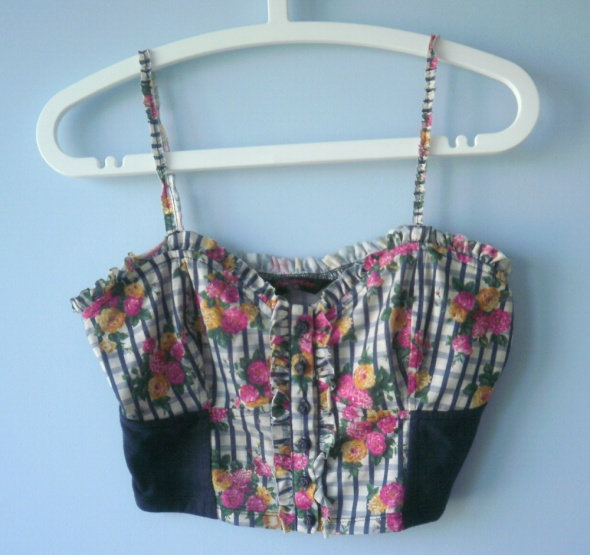 Miss Selfridge crop top gorset kwiaty floral...