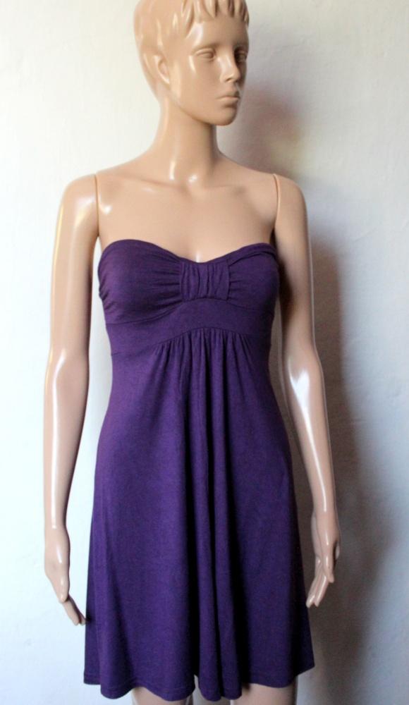 Fioletowa sukienka bez ramiączek r XS...