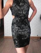 Topshop sukienka zip wycięcia