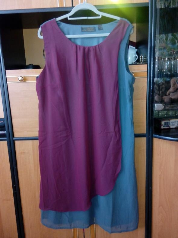 Cudowna nowa szyfonowa dwukolorowa sukienka rozmia...
