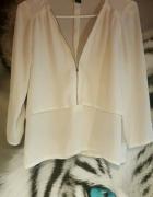 Biała warstwowa bluzka