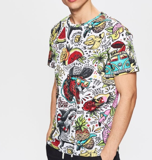 t shirt Cropp jungle...