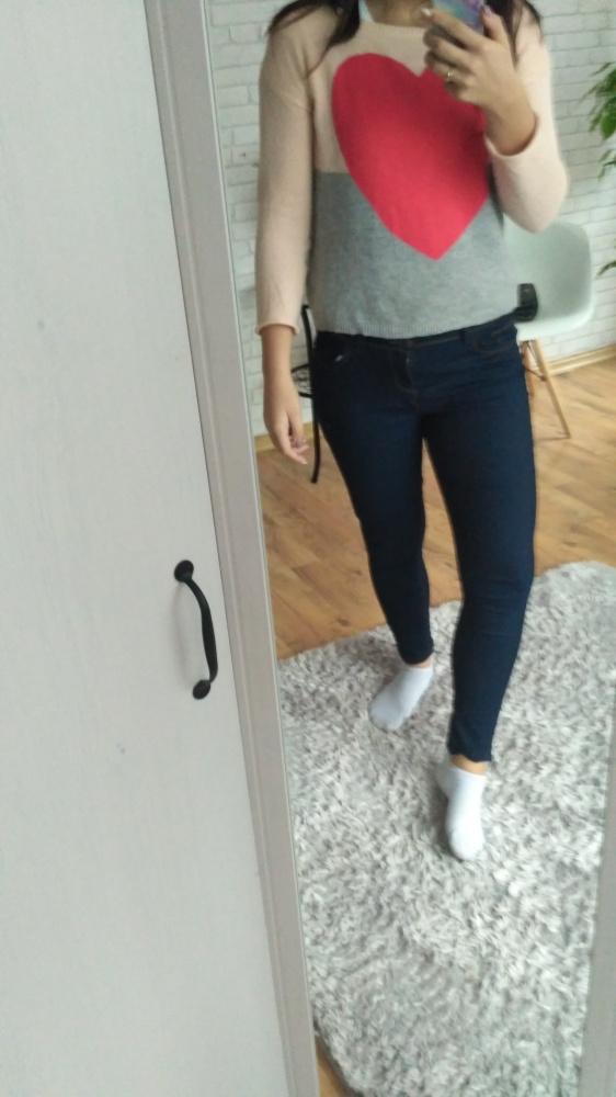 Nowe Spodnie jeans granatowe rurki Denim Co...