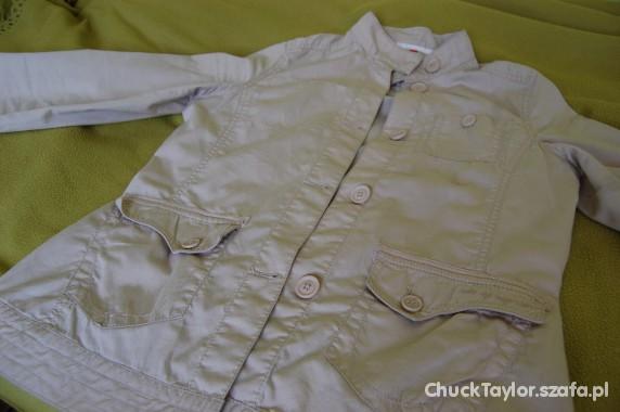 Odzież wierzchnia letnia kurtka beżowa