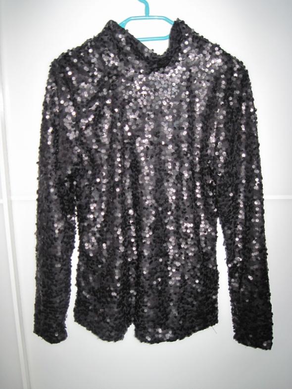 Cekinowa czarna bluzka H&M roz 38 nowa