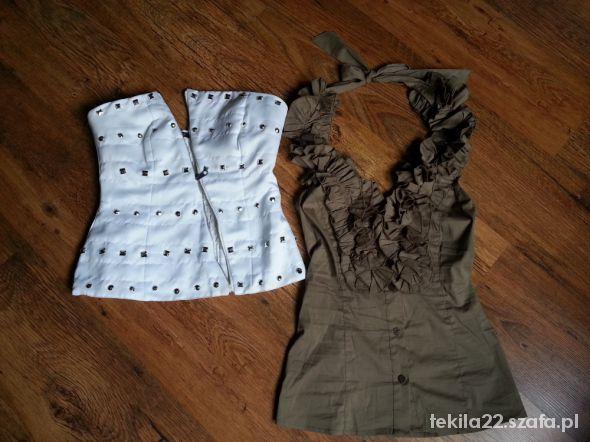 Bluzeczka wiązana na szyję oraz nowy gorsecik
