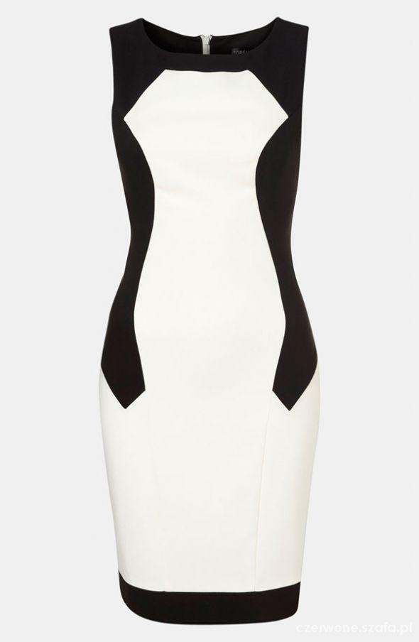 Topshop sukienka modelujaca sylwetke