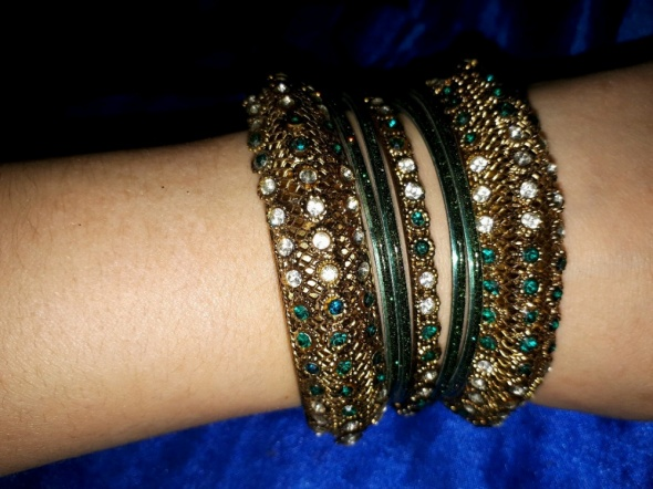 Komplet indyjskich bransoletek zielone