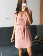 Różowa sukienka H&M S 36 ideał