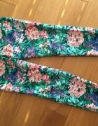 ZARA spodnie kwiaty boho kolorowe M L