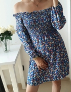 New look sukienka hiszpanka kwiaty lekko rozkloszowana M