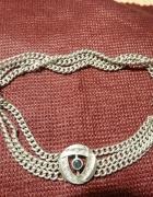 bransoletka srebrna łańcuszki
