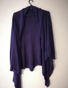 fioletowy kardigan sweter