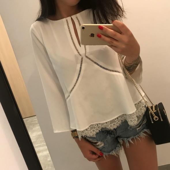 Bluzka koszulowa biała...