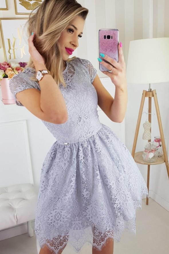 bc0567c7bb7af5 koronkowa sukienka SZARA w Suknie i sukienki - Szafa.pl