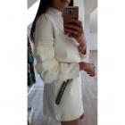 NOWY sweter sukienka dzianinowy biały