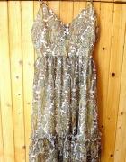 zwiewna letnia sukienka na ramiączkach m 38 boho