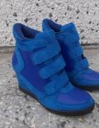 sneakersy 38 niebieskie...