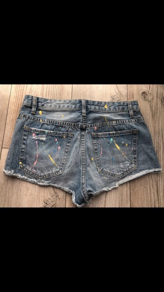 Spodenki szorty wysoki stan cropp modne jeansowe S...