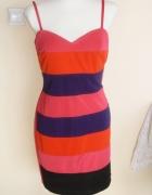 Śliczna kolorowa sukienka Lipsy London...