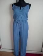 Niebieski DENIM kombinezon długie nogawki 40