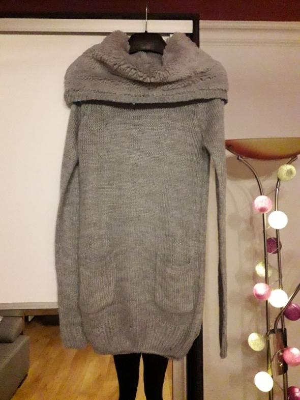Swetry sweter MOHITO z dużym kołnierzem