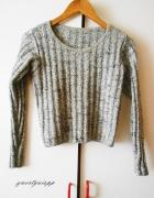 klasyczny szary sweterek minimalizm klasyka rozm s