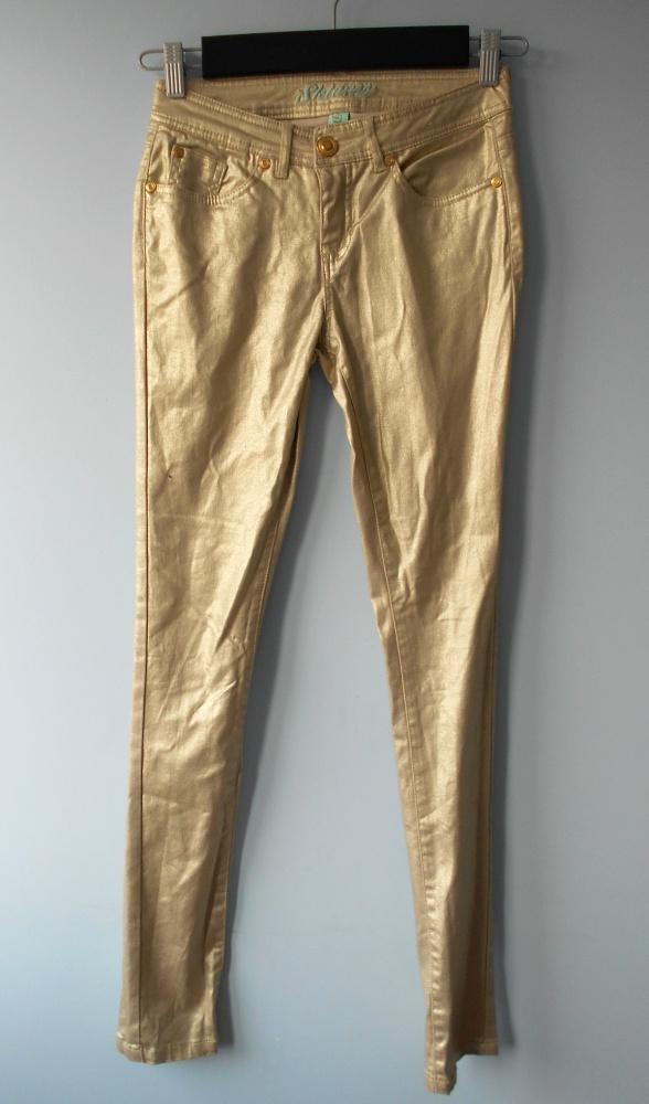 Denim Co nowe jeansy złote gold metallic...
