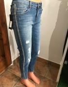 Nowe jeansy włoskie L...