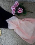 Pudrowo czarna cudna sukienka ala ZARA nowa