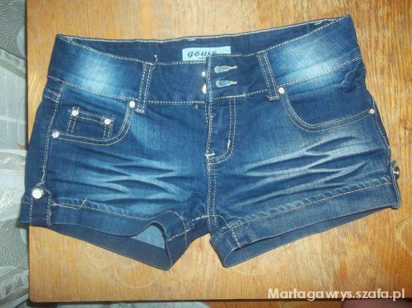 jeansowe krótkie spodenki