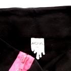 Czarna mini z zamkami