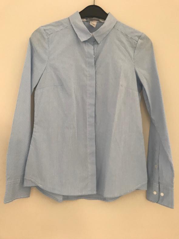 biało niebieska błekitna koszula H&M 36 S...