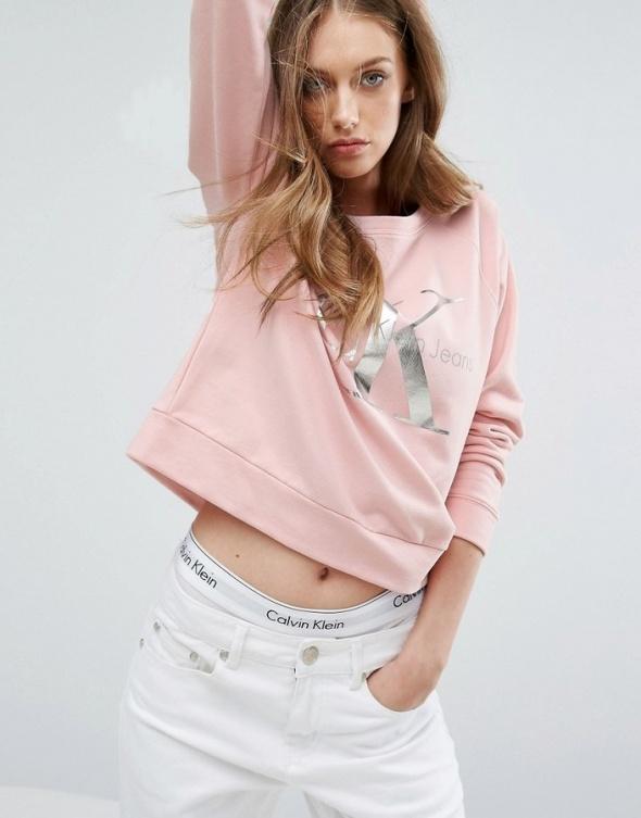 Calvin Klein Jeans Hanna bluza damska pudrowy róż XS S...