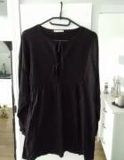 Zara nowa koszula oversize czarna styl boho...
