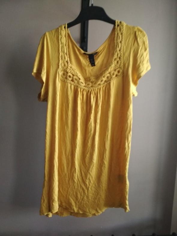 Koszulka musztardowa haftowana L modny kolor HM...
