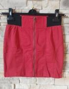 Cropp spódniczka mini z zamkiem z przodu XS...