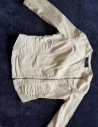 Biała asymetryczna jeansowa kurteczka Medicine...
