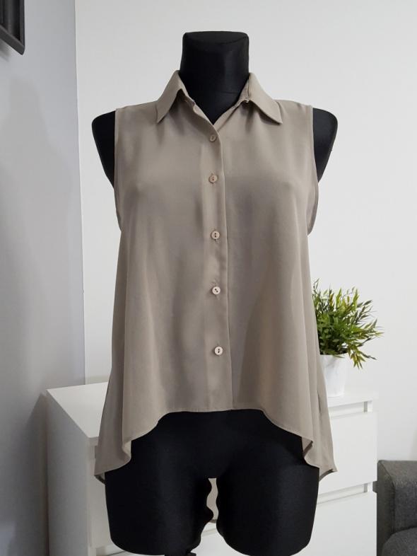 bluzka mgiełka w kolorze khaki Miss Selfridge