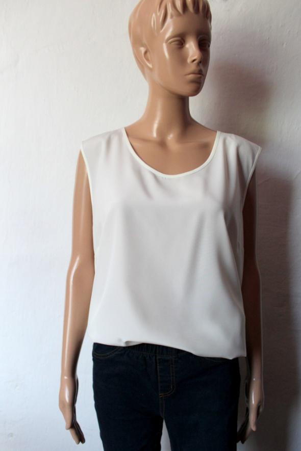 Elegancka kremowa bluzka na ramiączkach r XXXL...