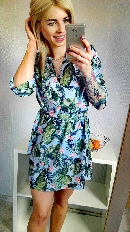 sukienka kwiaty nowa S M L