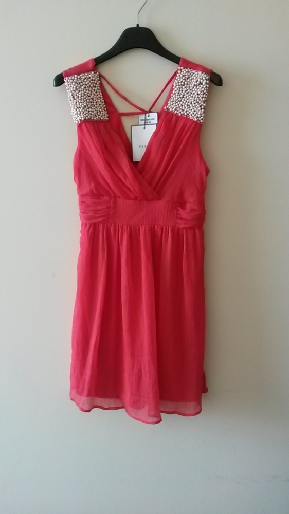 sukienka malinowa Vila...