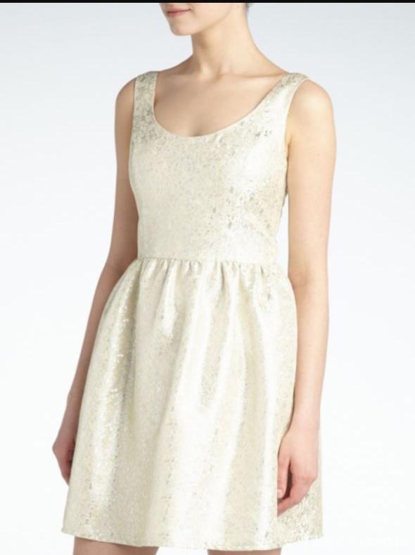 Złoto kremowa sukienka reserved 36