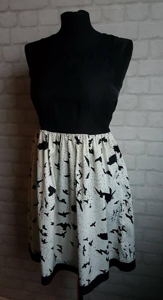 Super letnia sukienka motyw ptaków zwiewna...