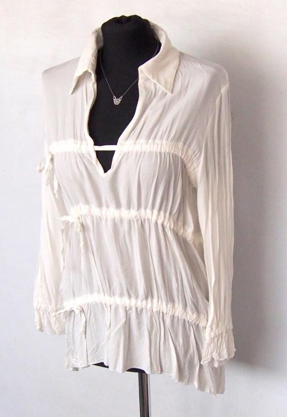 Zwiewna delikatna bluzeczka biała Minouu UNI...