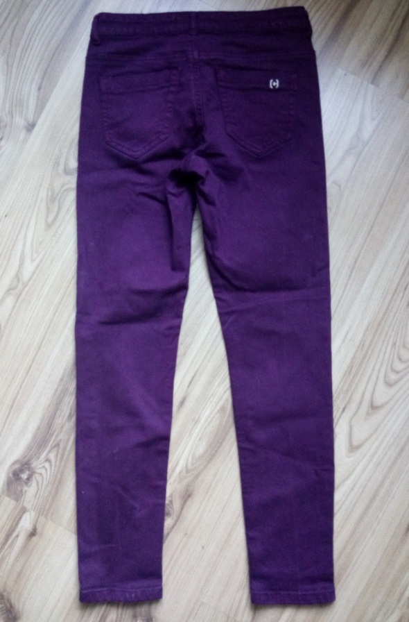 Purpurowe spodnie S 36 Cropp