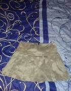 srebrna spódniczka plisy rozmiar 38 M...