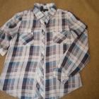 Bluzka koszulowa w kratę S Bawełna