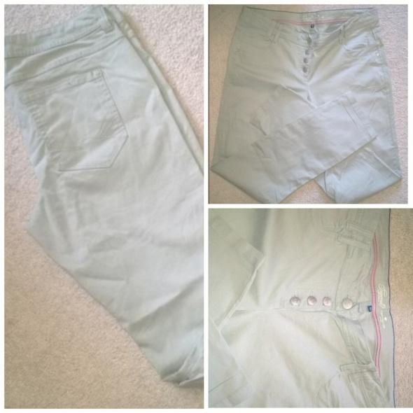 Miętowe jeansy Tom Tailor...