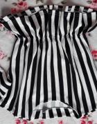 Bluzka baskinka czarno białe paski
